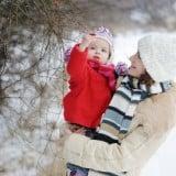 ママコート 冬 雪 抱っこ