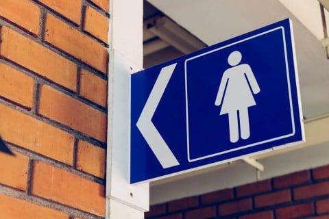 女子トイレ 看板 モノ イメージ
