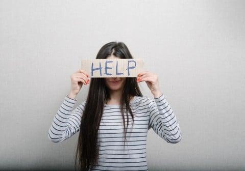 女性 不安 HELP 助け 悩み