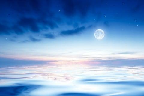 月 潮 海 空