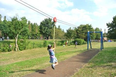 水元公園 遊具 ターザンロープ