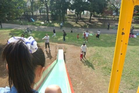 水元公園 すべり台 アスレチック