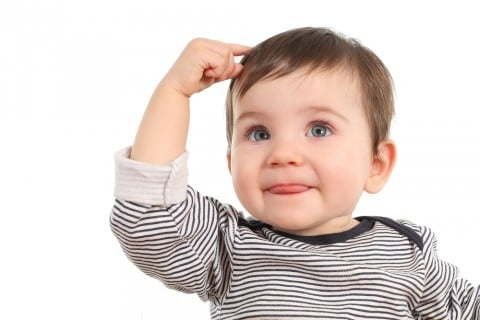 赤ちゃん 男の子 髪 舌