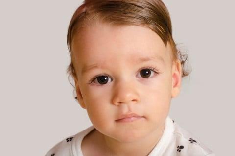 男の子 赤ちゃん 七三 分け