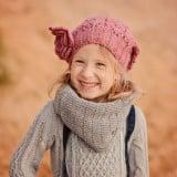 キッズニット帽 女の子 帽子 笑顔