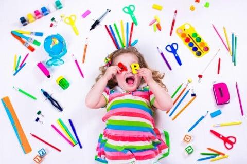 入園 文房具 はさみ 色鉛筆 女の子 ABC