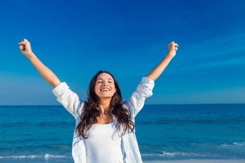 女性 元気 健康 リラックス 解放