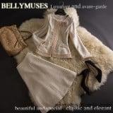 要出典 入学式 ママスーツ BELLY MUSES ツイードスーツ