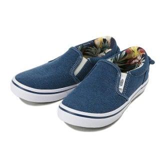 要出典 男の子 子供靴 キッズ ヴァンズ(VANS) スリッポン V98CJ INDG 16SP BLUE