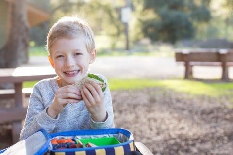子供 弁当 ランチ 外 ピクニック 男の子 公園