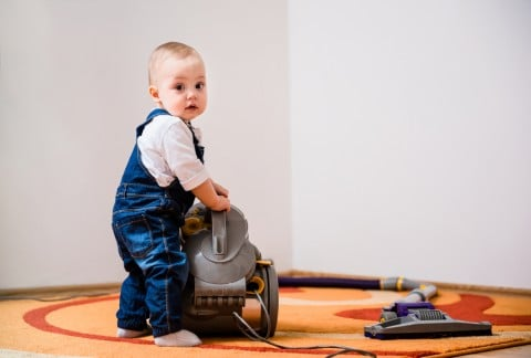 赤ちゃん 子供 掃除機 そうじ 家事
