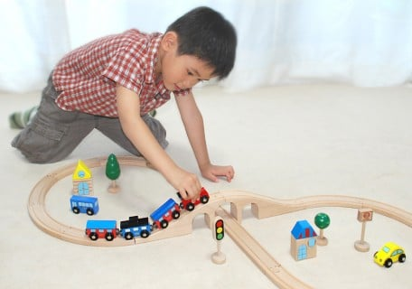 要出典 木製 おもちゃ 木製おもちゃのだいわ 汽車レールセットスタンダード