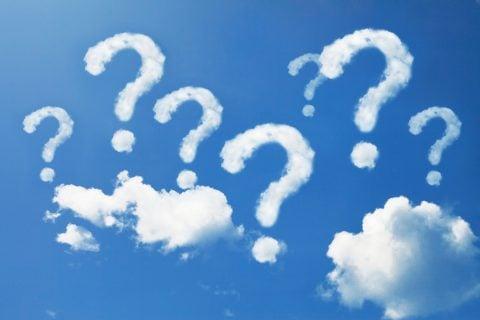 はてな 疑問 クエスチョン 空 雲 なぜ