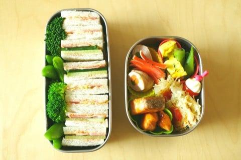遠足 弁当  親子 サンドイッチ