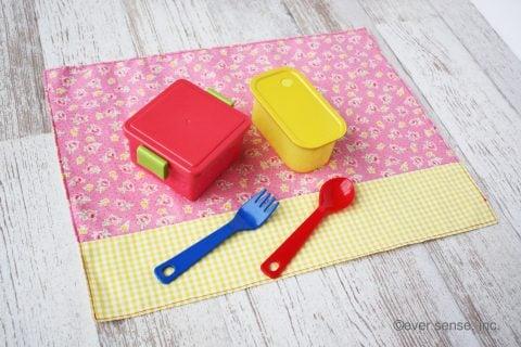 幼稚園 小学校 ランチョンマット 給食ナフキン 作り方 完成