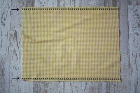 幼稚園 小学校 ランチョンマット 給食ナフキン 作り方 2枚を縫い合わせる