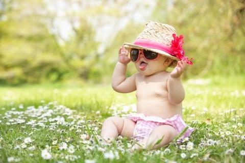 赤ちゃん サングラス 帽子 夏 屋外