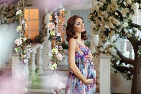 妊婦 ドレス パーティー