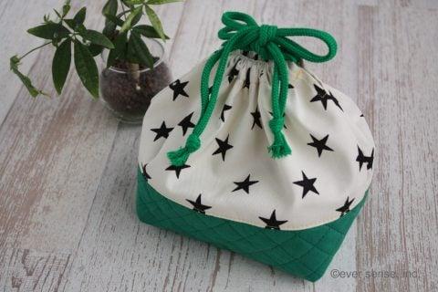 巾着型お弁当袋 手作り 作り方 幼稚園用 完成