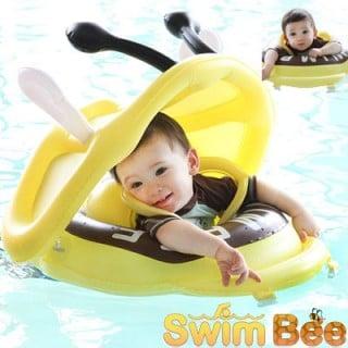 要出典 赤ちゃん 浮き輪 スイムビー サンシェード付き浮き輪