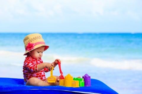 赤ちゃん 水着 ラッシュガード 海 水遊び