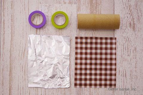 トイレットペーパー 芯 工作 万華鏡 材料 道具