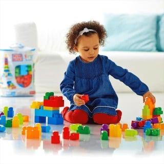 要出典 フィッシャープライス おもちゃ 1才からのメガブロック 80個バック