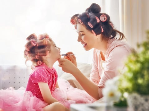 コスメ 化粧 女の子 ママ 親子 母娘 ヘア