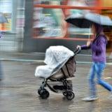 雨 ベビーカー カバー 傘