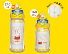 要出典 哺乳瓶 チュチュベビー ミッフィー 広口タイプ 哺乳びん