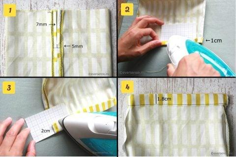 コップ袋 作り方 幼稚園 保育園 巾着袋 3