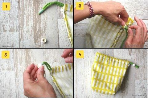 コップ袋 作り方 幼稚園 保育園 巾着袋 4