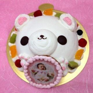 要出典 写真ケーキ お花茶屋コシジ洋菓子店 写真ケーキ スイートベアー
