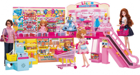 要出典 5歳 女の子 誕生日 プレゼント タカラトミー リカちゃん セルフレジでピッ! おおきなショッピングモール