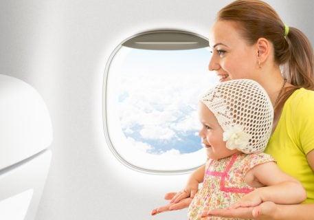 親子 赤ちゃん 飛行機 フライト