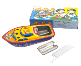 要出典 船 おもちゃ ポンポン丸 ブリキ製