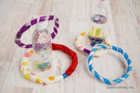 新聞紙 簡単工作 幼児向け おもちゃ 手作り 輪投げ