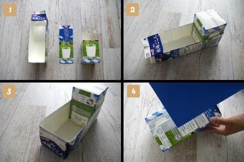 牛乳パック 工作 おもちゃ 手作り トラック 作り方 車体