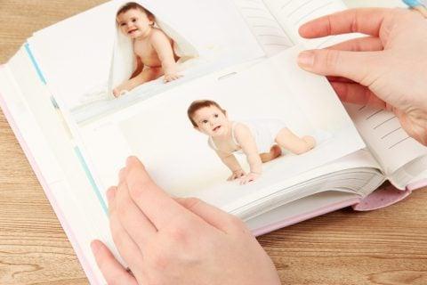 赤ちゃん 写真 アルバム 記念写真