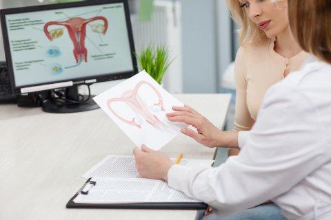 子宮 病院 医師 診察 婦人科 女性