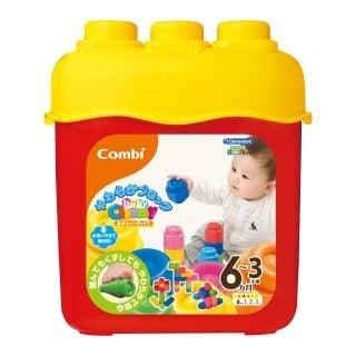 要出典 0歳 1歳 赤ちゃん クリスマスプレゼント コンビ ベビークレミー やわらかブロック基本セットボックス