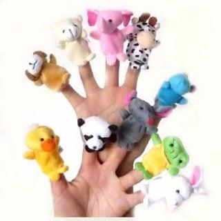 要出典 0歳 1歳 赤ちゃん クリスマスプレゼント 指人形 動物 10種類セット