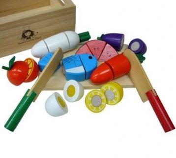 要出典 クリスマスプレゼント 2歳 3歳 女の子 サクッと切れるままごと 木箱いっぱいセット
