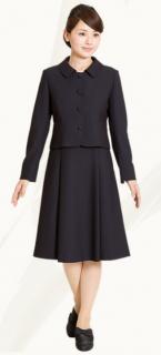 要出典 お受験 スーツ メアリーココ お受験スーツ フラットカラー プリーツ 濃紺アンサンブル