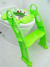補助便座 リトルプリンセス かえるのふかふか ステップ式トイレトレーナー
