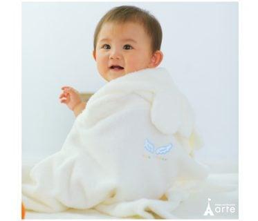 赤ちゃん バスポンチョ 天使の背まもり ベビーバスローブ