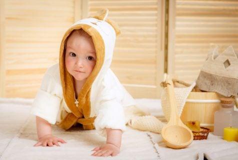 赤ちゃん 風呂 バスローブ