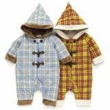 キッズズー Kid's Zoo タータンチェック フード付ダッフル風ジャンプスーツ