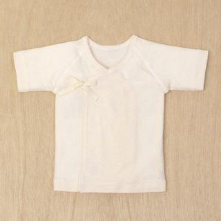 日本製の新生児肌着 コフク 短肌着