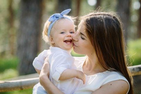 ママ 子供 乳児 女の子